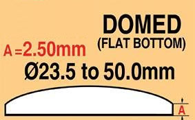 Round Domed Glass Thick edge 23.5mm
