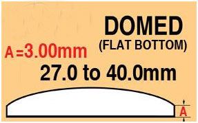 Round Domed Glass Thick edge 27.0mm
