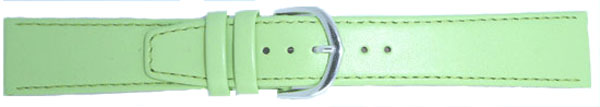 Pastel Green Leather Straps Chrome 18mm