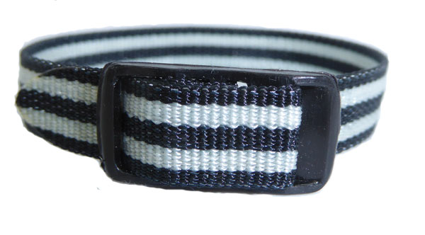 10mm Straps Strap Black White