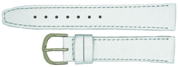 White Extra Long Leather Chrome 6mm